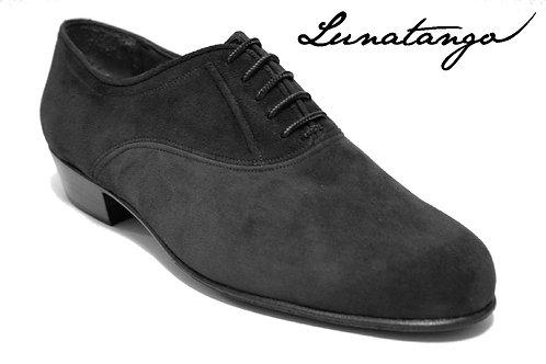 Lunatango Oxford Milonga Gamuza Negro Heel 3,5 cm