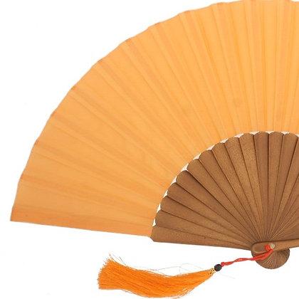 Abanico Exclusivo Arce-Seda Orange 23 cm