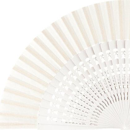 Abanico Calado White 23 cm