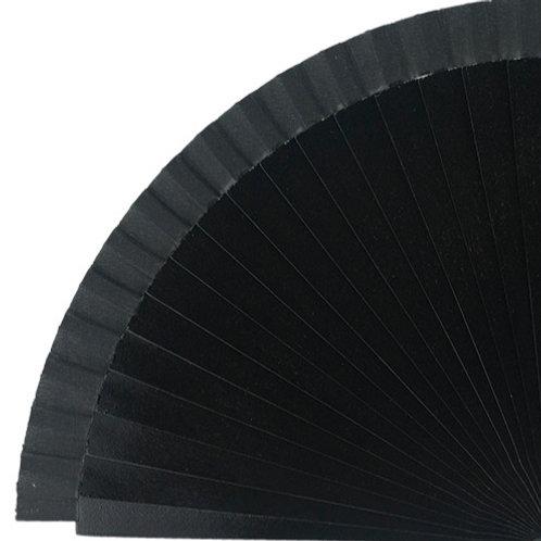 Abanico Liso Black 23 cm