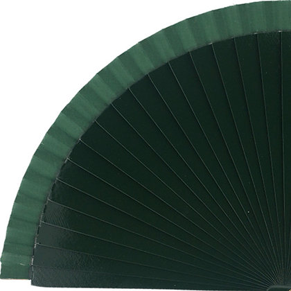 Abanico Liso Dark Green 23 cm