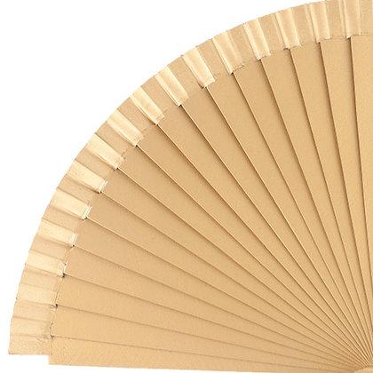 Abanico Liso Gold 23 cm