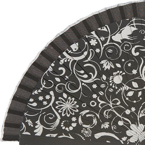 Abanico Impreso Black 23 cm