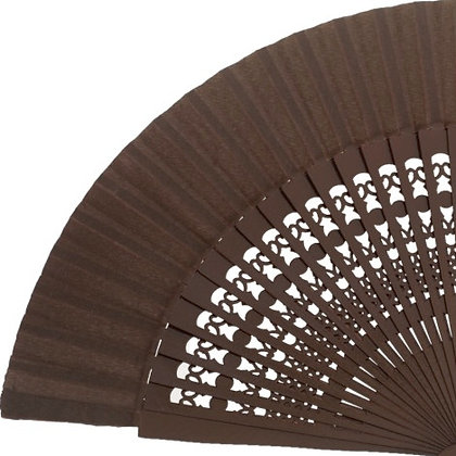Abanico Calado Brown 23 cm