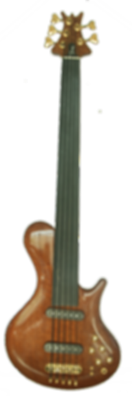Torun Instruments Posh fretless Quilted Red Mahogany