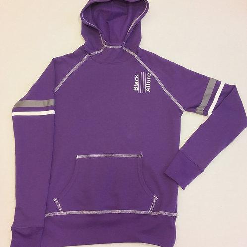 Purple Contrast Hoodie