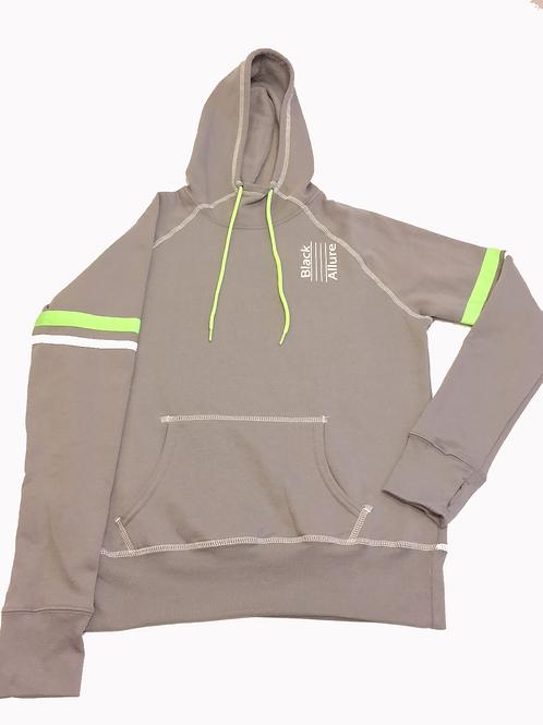 Lime Contrast Hoodie