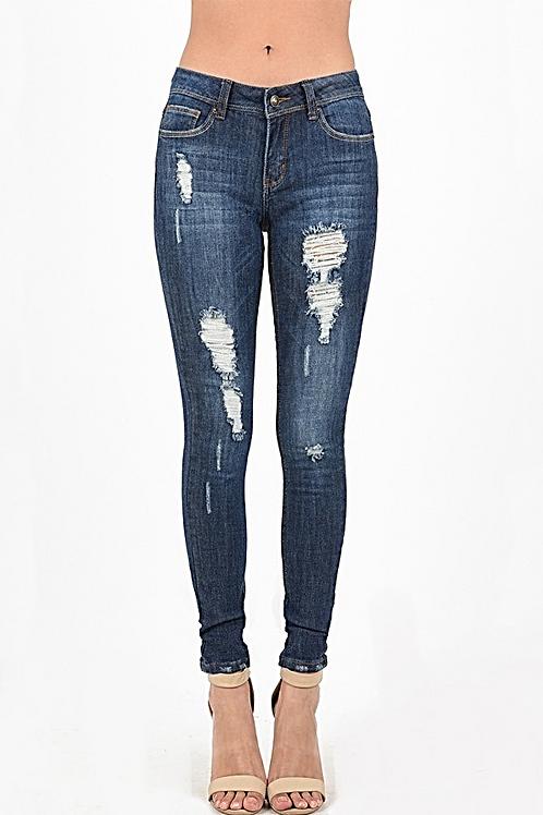 Distress Denim Jeans