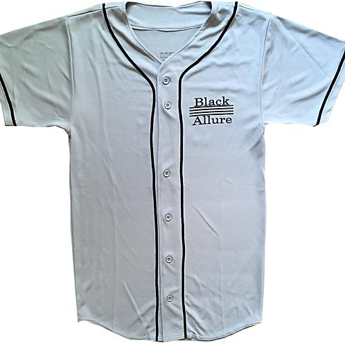 Black Allure Baseball Jersey Sliver