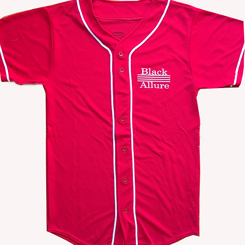 Youth Black Allure Baseball Jersey Red