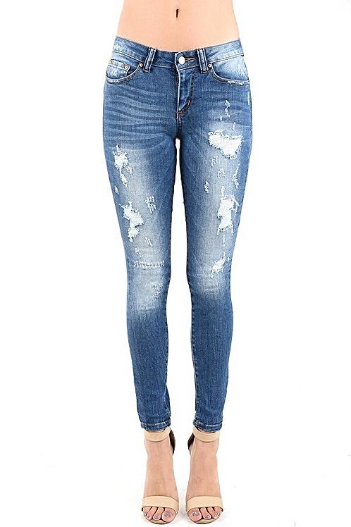 Ash Distress Denim Jeans