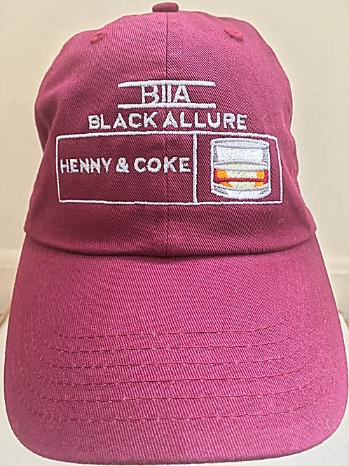 Henny & Coke Allure Hat Maroon
