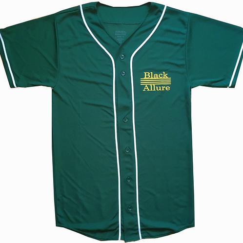 Black Allure Baseball Jersey Green