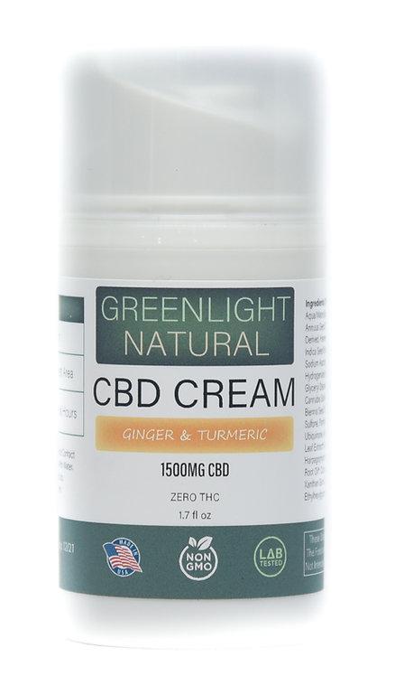 CBD Cream 1500MG -Ginger & Turmeric