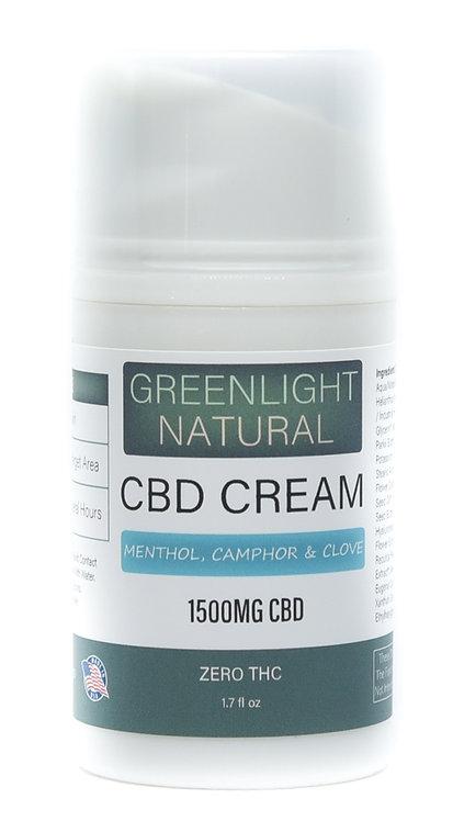 CBD Cream 1500MG - Menthol, Camphor & Clove