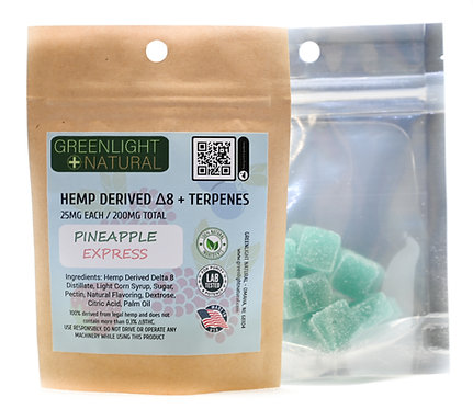 Hemp Derived Delta 8 +Real Cannabis Terpenes (25MG Gummies)