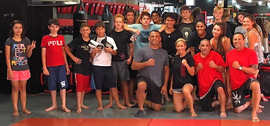 teen mma class photo