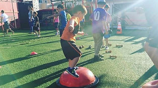 fitness friday kid working out