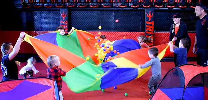 tough tots parachute play