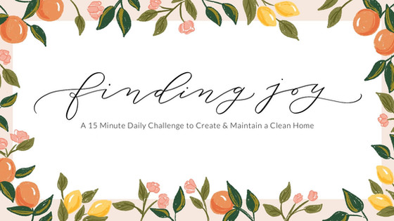 Finding Joy: A 15 Minute Daily Challenge to Create & Maintain a Clean Home.
