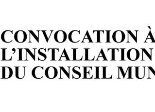 Installation du conseil municipal