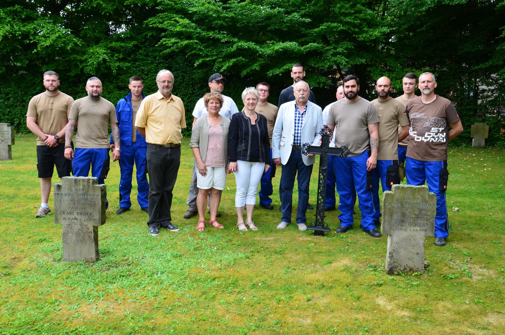 Restauration des cimetières du site des Hauteurs par le SESMA.