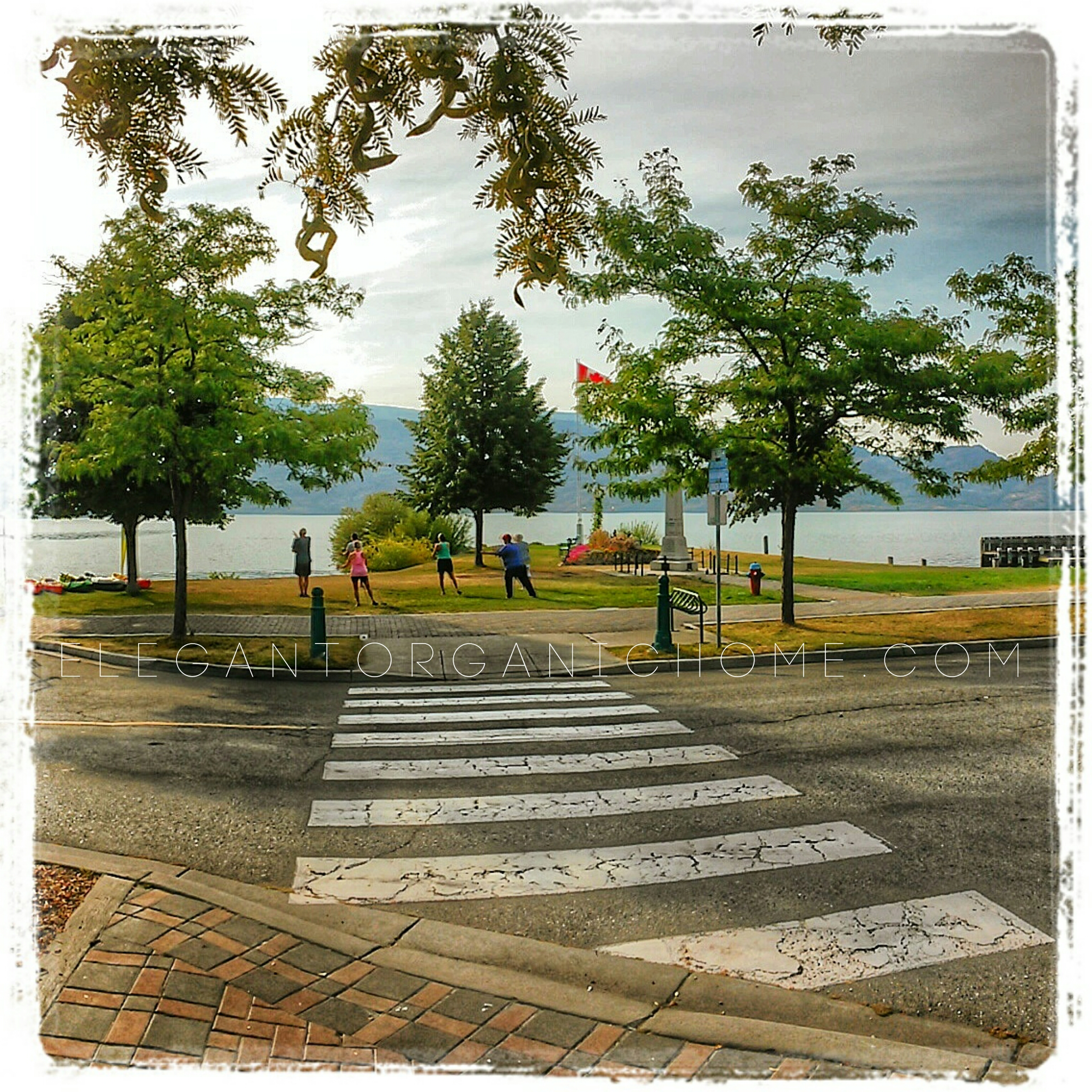 Tai Chi along Peachland's waterfront