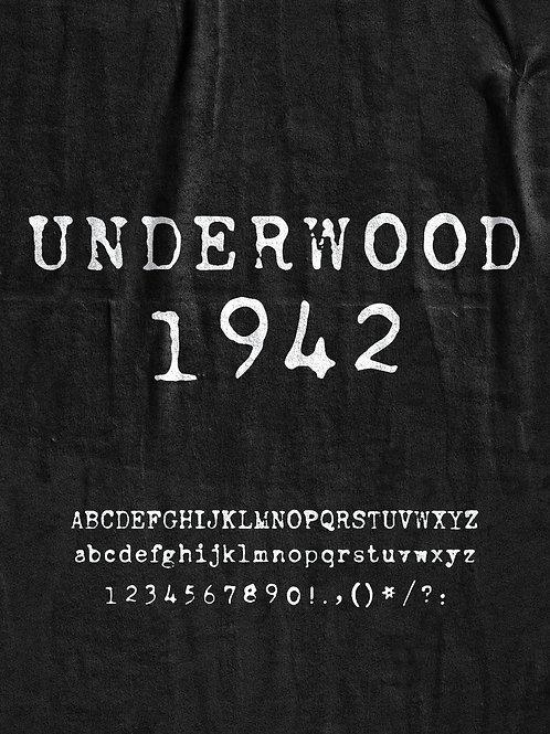Underwood 1942 Font
