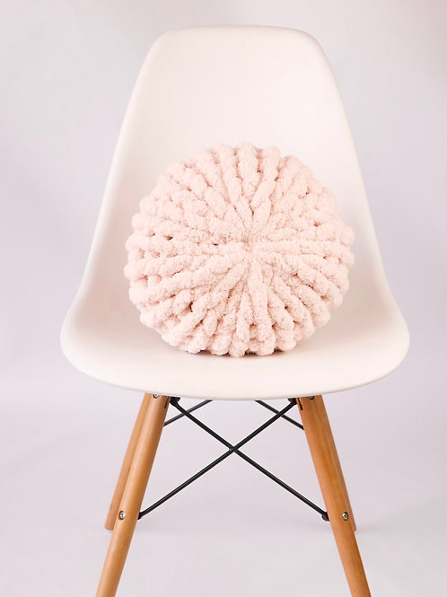 Soft Pink Poof Pillow