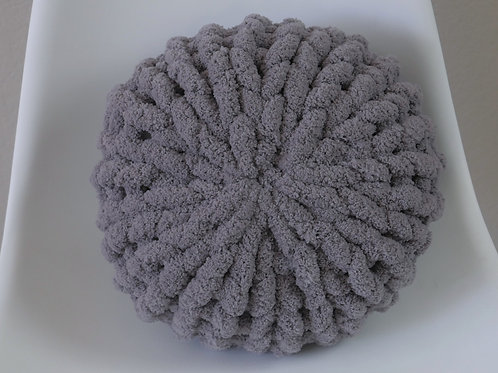 Charcoal Poof Pillow