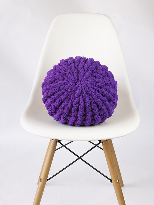 Violet Poof Pillow