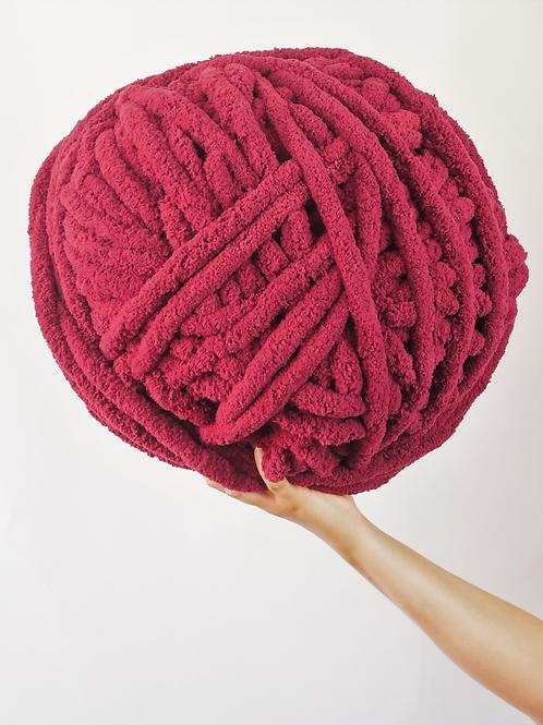 Cranberry Large Yarn Ball