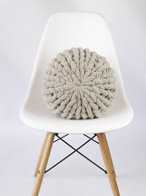 Light Gray Poof Pillow