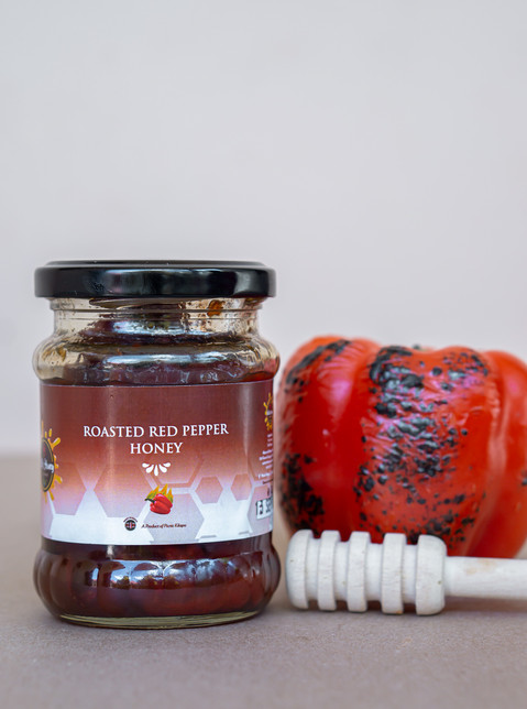 Roasted Red Pepper infused Honey
