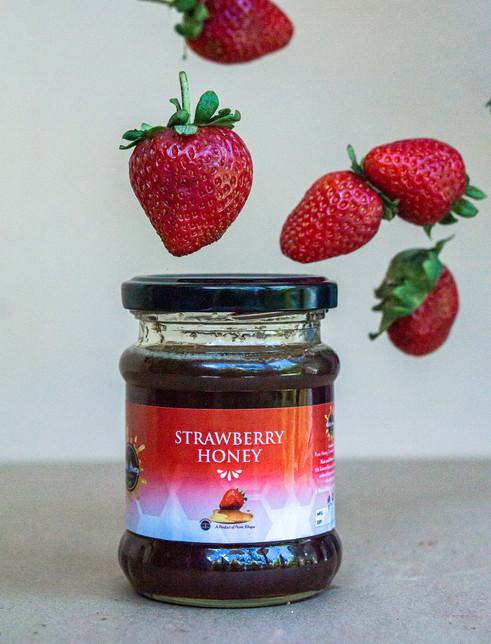 Strawberry infused honey