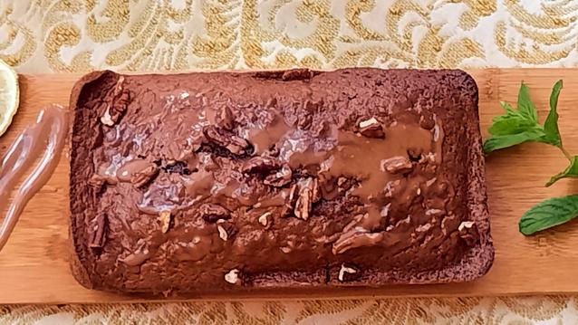 German Chocolate Pecan Cake with Chocolate Cream Cheese Ganache