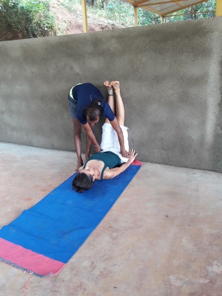 Viparita Karani Yoga adjustment
