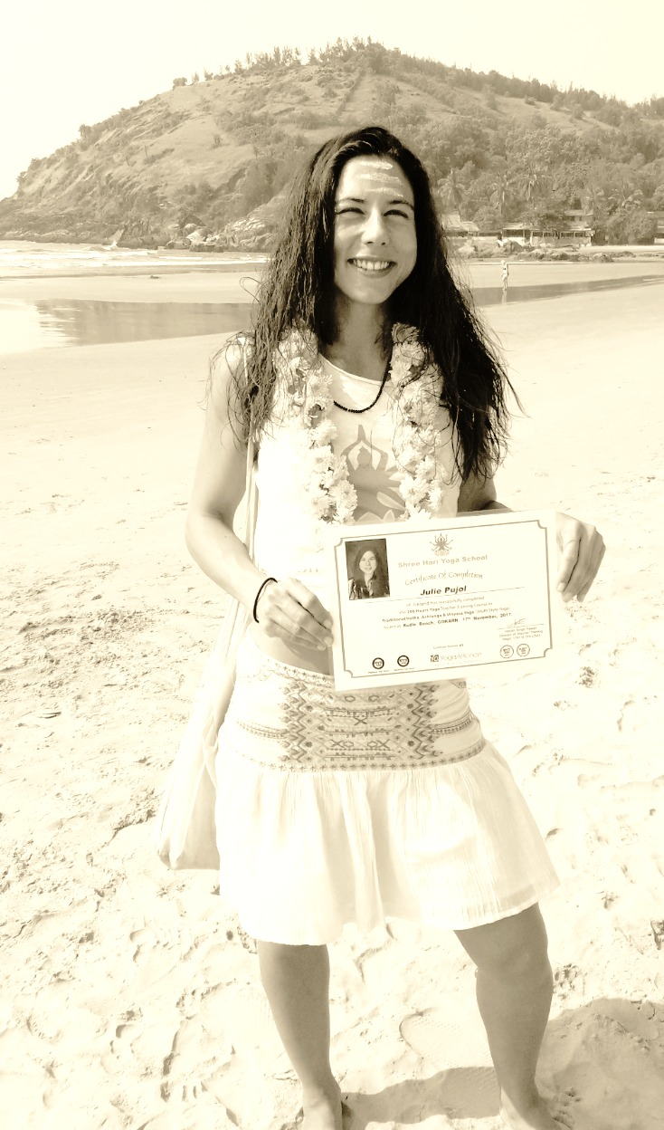 Julie Yoga Certificate India