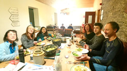 Dinner with acroyogis