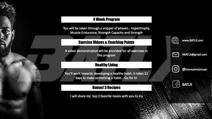 BATLX Online Training Program (4 weeks)