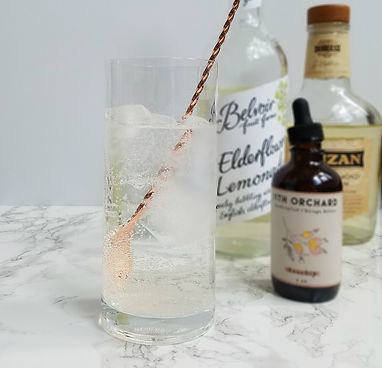 Rum Rosehip Elderflower Lemonade Cocktail