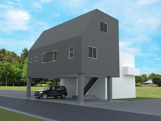 【事例紹介】狭小地でも4台駐車可能。重量鉄骨の強みを活かした住宅。