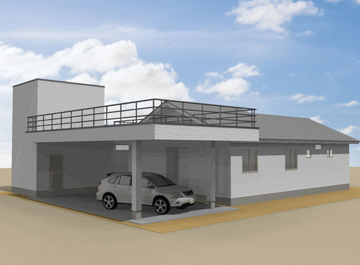 【事例紹介】車庫併用事務所を建設中。