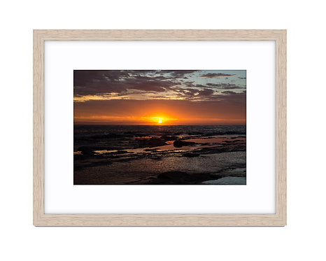 Collaroy Sunrise View - Wooden Frame Raw