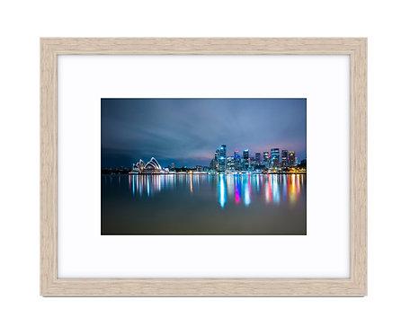 Sydney CBD - Wooden Frame Raw