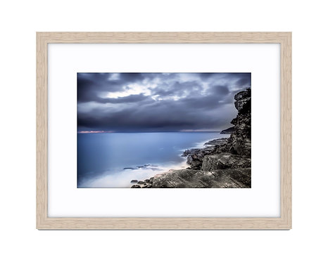 Sea View Shelly Beach - Wooden Frame Raw