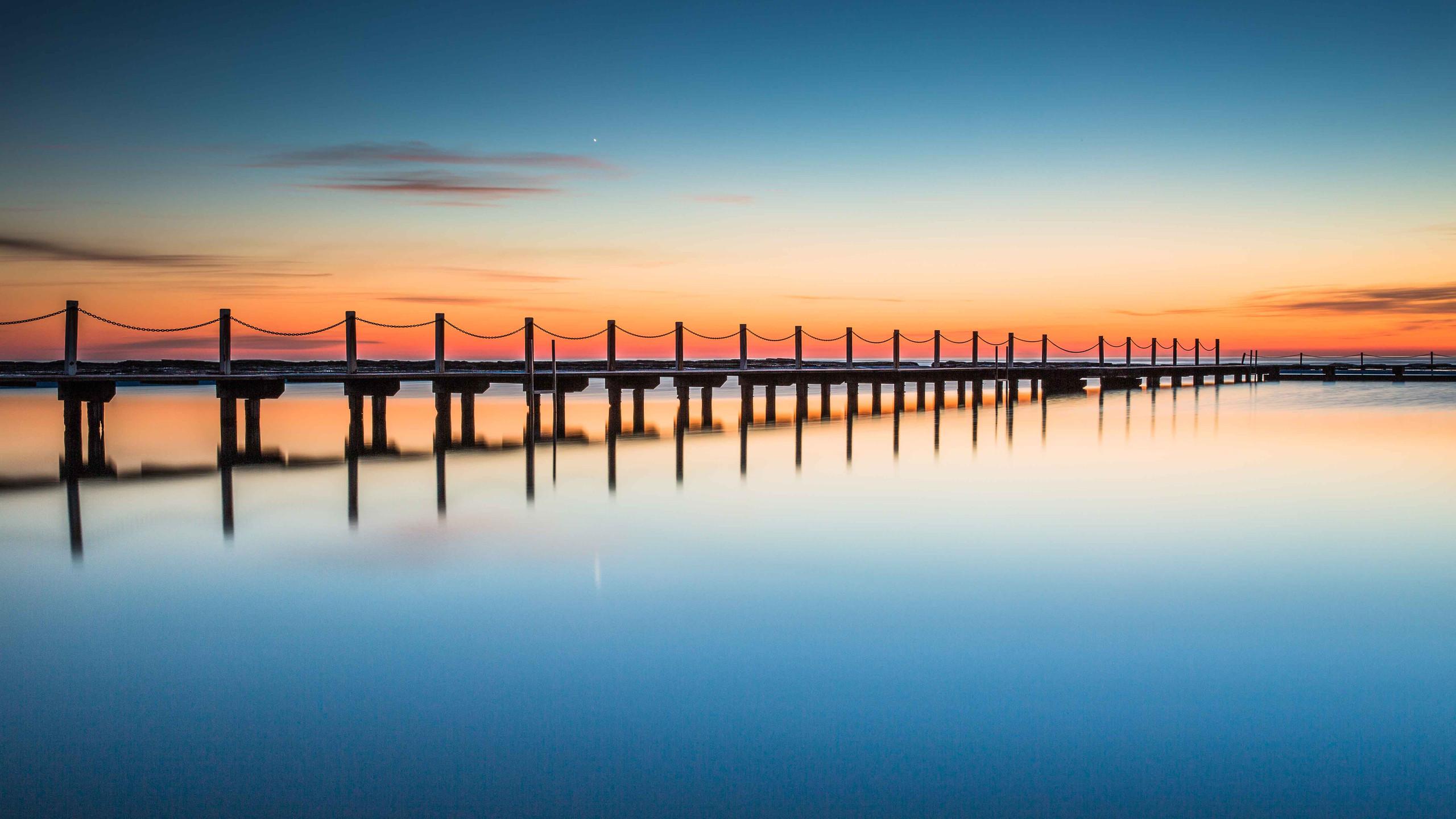 Timber boardwalk Reflection