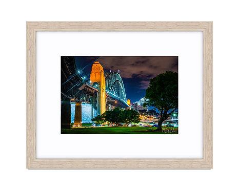 Sydney Harbour Bridge - Wooden Frame Raw