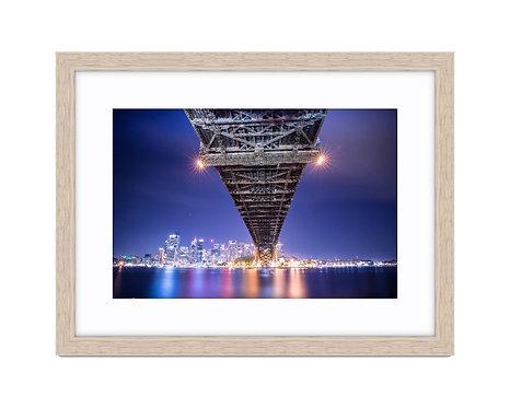 Sydney Harbour Under Bridge - Wooden Frame Raw