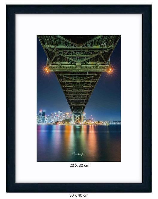 Sydney Harbour Bridge - Matte Black Wood